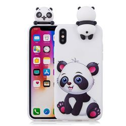 Panda Girl Soft 3D Climbing Doll Soft Case for iPhone XS / X / 10 (5.8 inch)