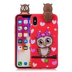Bow Owl Soft 3D Climbing Doll Soft Case for iPhone XS / X / 10 (5.8 inch)