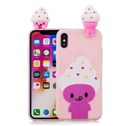Ice Cream Man Soft 3D Climbing Doll Soft Case for iPhone XS / X / 10 (5.8 inch)