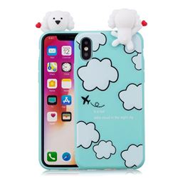 Cute Cloud Girl Soft 3D Climbing Doll Soft Case for iPhone XS / X / 10 (5.8 inch)