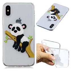 Tree Panda Super Clear Soft TPU Back Cover for iPhone XS / X / 10 (5.8 inch)