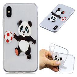 Football Panda Super Clear Soft TPU Back Cover for iPhone XS / X / 10 (5.8 inch)
