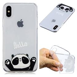 Hello Panda Super Clear Soft TPU Back Cover for iPhone XS / X / 10 (5.8 inch)