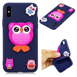 Owl Baby Soft 3D Silicon Phone Back Cover for iPhone XS / X / 10 (5.8 inch)
