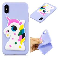 Big Eyes Unicorn Soft 3D Silicon Phone Back Cover for iPhone XS / X / 10 (5.8 inch)