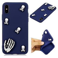 Ghost Head Hand Soft 3D Silicon Phone Back Cover for iPhone XS / X / 10 (5.8 inch)