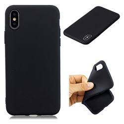 Candy TPU Soft Back Phone Cover for iPhone XS / X / 10 (5.8 inch) - Black