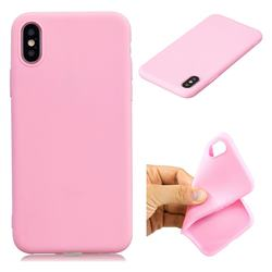 Candy TPU Soft Back Phone Cover for iPhone XS / X / 10 (5.8 inch) - Pink
