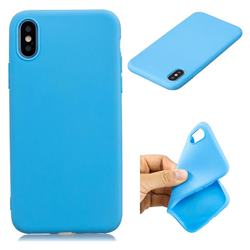 Candy TPU Soft Back Phone Cover for iPhone XS / X / 10 (5.8 inch) - Baby Blue