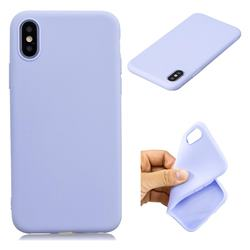 Candy TPU Soft Back Phone Cover for iPhone XS / X / 10 (5.8 inch) - Purple