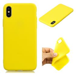 Candy TPU Soft Back Phone Cover for iPhone XS / X / 10 (5.8 inch) - Yellow