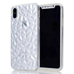 Diamond Pattern Shining Soft TPU Phone Back Cover for iPhone XS / X / 10 (5.8 inch) - Transparent