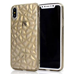 Diamond Pattern Shining Soft TPU Phone Back Cover for iPhone XS / X / 10 (5.8 inch) - Gray