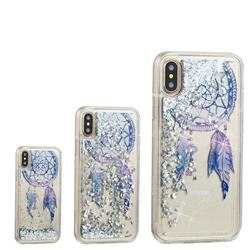 Fantasy Wind Chimes Dynamic Liquid Glitter Quicksand Soft TPU Case for iPhone XS / X / 10 (5.8 inch)