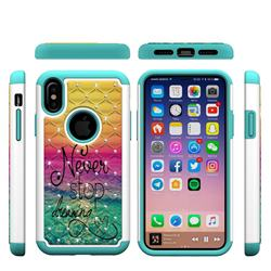 Colorful Dream Catcher Studded Rhinestone Bling Diamond Shock Absorbing Hybrid Defender Rugged Phone Case Cover for iPhone XS / X / 10 (5.8 inch)