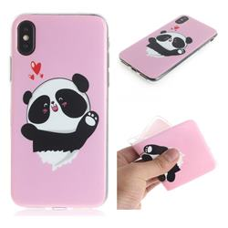 Heart Cat IMD Soft TPU Cell Phone Back Cover for iPhone XS / iPhone X(5.8 inch)