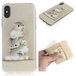 Three Squirrels IMD Soft TPU Cell Phone Back Cover for iPhone XS / iPhone X(5.8 inch)