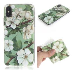 Watercolor Flower IMD Soft TPU Cell Phone Back Cover for iPhone XS / iPhone X(5.8 inch)