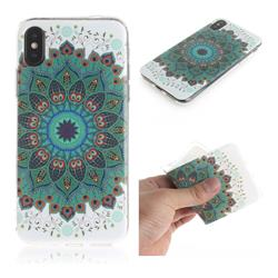 Peacock Mandala IMD Soft TPU Cell Phone Back Cover for iPhone XS / iPhone X(5.8 inch)