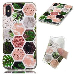Rainforest Soft TPU Marble Pattern Phone Case for iPhone XS / iPhone X(5.8 inch)