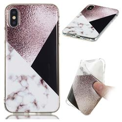 Black white Grey Soft TPU Marble Pattern Phone Case for iPhone XS / iPhone X(5.8 inch)