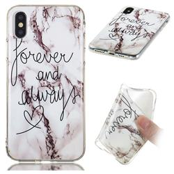 Forever Soft TPU Marble Pattern Phone Case for iPhone XS / iPhone X(5.8 inch)
