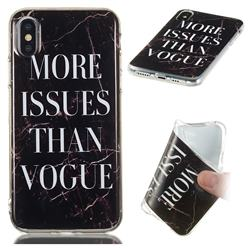 Stylish Black Soft TPU Marble Pattern Phone Case for iPhone XS / iPhone X(5.8 inch)