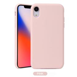 Howmak Slim Liquid Silicone Rubber Shockproof Phone Case Cover for iPhone XS / iPhone X(5.8 inch) - Pink