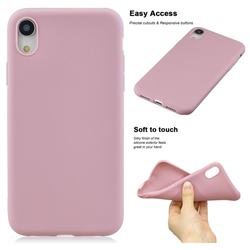Soft Matte Silicone Phone Cover for iPhone XS / iPhone X(5.8 inch) - Lotus Color