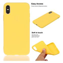 Soft Matte Silicone Phone Cover for iPhone XS / iPhone X(5.8 inch) - Yellow