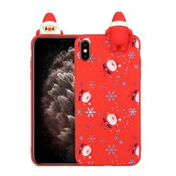 Snowflakes Gloves Christmas Xmax Soft 3D Doll Silicone Case for iPhone XS / iPhone X(5.8 inch)