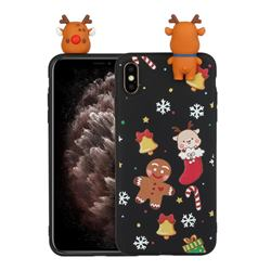 Gift Snow Christmas Xmax Soft 3D Doll Silicone Case for iPhone XS / iPhone X(5.8 inch)