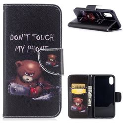 Chainsaw Bear Leather Wallet Case for iPhone XS / X / 10 (5.8 inch)