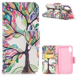 The Tree of Life Leather Wallet Case for iPhone XS / X / 10 (5.8 inch)