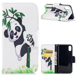 Bamboo Panda Leather Wallet Case for iPhone XS / X / 10 (5.8 inch)