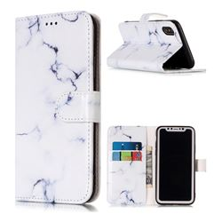 Soft White Marble PU Leather Wallet Case for iPhone XS / X / 10 (5.8 inch)