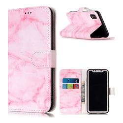 Pink Marble PU Leather Wallet Case for iPhone XS / X / 10 (5.8 inch)