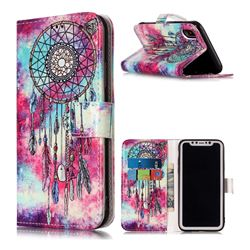 Butterfly Chimes PU Leather Wallet Case for iPhone XS / X / 10 (5.8 inch)