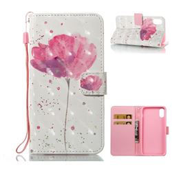 Watercolor 3D Painted Leather Wallet Case for iPhone XS / X / 10 (5.8 inch)