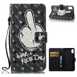Have a Nice Day 3D Painted Leather Wallet Case for iPhone XS / X / 10 (5.8 inch)