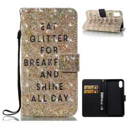 Shine All Day 3D Painted Leather Wallet Case for iPhone XS / X / 10 (5.8 inch)