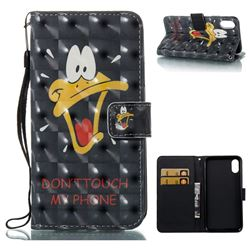 Saliva Duck 3D Painted Leather Wallet Case for iPhone XS / X / 10 (5.8 inch)