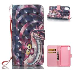 Monster 3D Painted Leather Wallet Case for iPhone XS / X / 10 (5.8 inch)