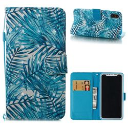 Banana Leaves 3D Painted Leather Wallet Case for iPhone XS / X / 10 (5.8 inch)