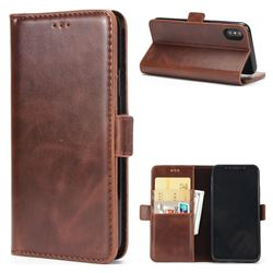 Luxury Crazy Horse PU Leather Wallet Case for iPhone XS / X / 10 (5.8 inch) - Coffee