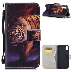 Mighty Tiger PU Leather Wallet Case for iPhone XS / X / 10 (5.8 inch)