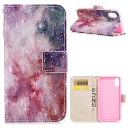 Cosmic Stars PU Leather Wallet Case for iPhone XS / X / 10 (5.8 inch)