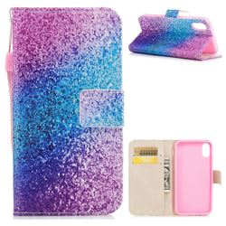Rainbow Sand PU Leather Wallet Case for iPhone XS / X / 10 (5.8 inch)