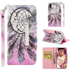 Angel Monternet Big Metal Buckle PU Leather Wallet Phone Case for iPhone XS / iPhone X(5.8 inch)