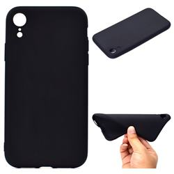 Candy Soft TPU Back Cover for iPhone Xr (6.1 inch) - Black
